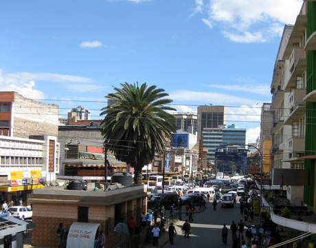 The busy streets of Nairobi